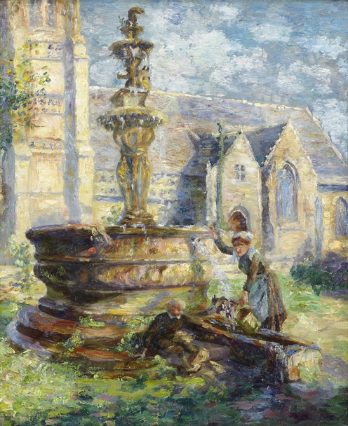 Woman at Fountain (SOLD)