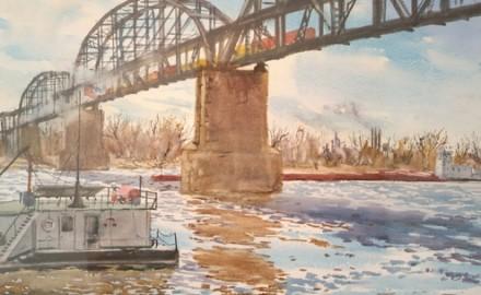 Pushing Under the MacArthur Bridge
