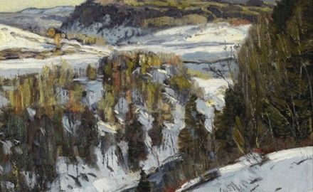 Autumn Snowfall in the Berkshires (SOLD)