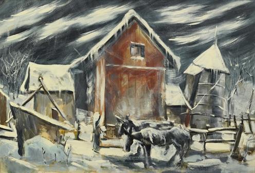 St. Genevieve Farm in Winter