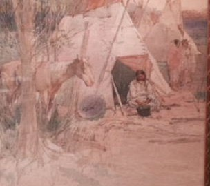 Indian Encampment (SOLD)