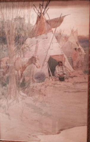 Indian Encampment (SOLD)