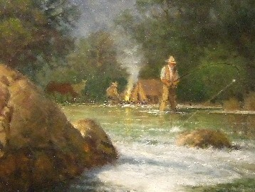 Fishing by the Camp (SOLD)