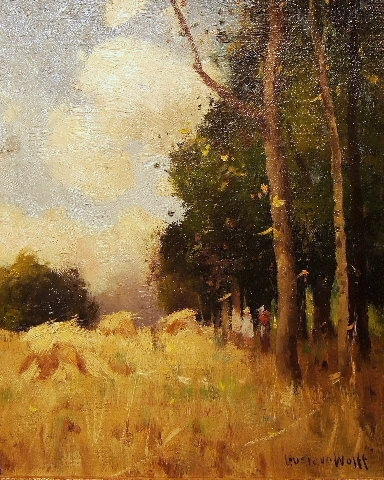 Figures In a Field of Hay