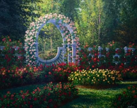 """John Odell """"Gladney Rose Garden"""""""