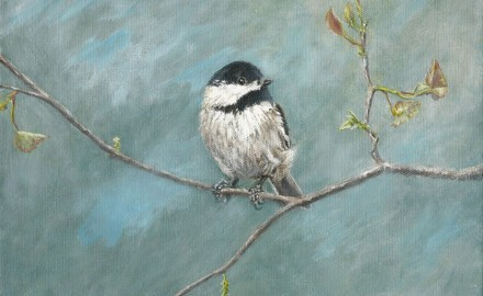 Black Capped Chickadee (SOLD)