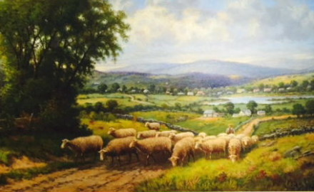 Sheep to Pasture, c. 1880