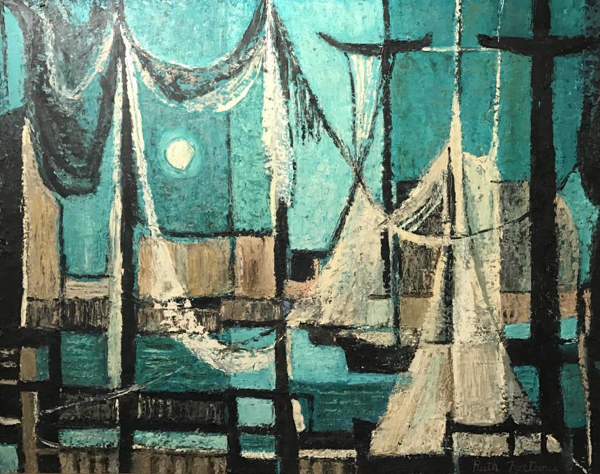 Night Harbor, 1955 (SOLD)