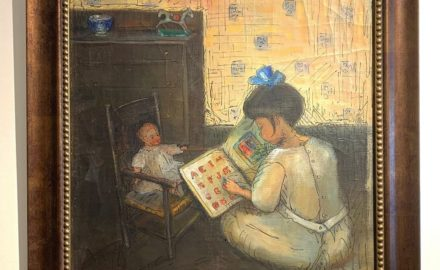 Girl Reading to a Doll c.1915
